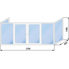 Балкон П-образный KBE 58