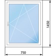 Одностворчатое поворотно-откидное окно Rehau E60